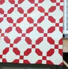 Antique Red & White quilt