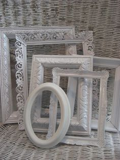 Mismatched painted White frames