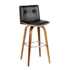 2 x Prema Wooden Kitchen Bar Stool - Black - Modern Bar Stools Bar Stools Uk, Vintage Bar Stools, Bar Stools With Backs, Industrial Bar Stools, Bar Chairs, Eames Chairs, High Chairs, Room Chairs, Furniture Chairs