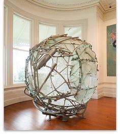 """Gregor Kregar - """"Prstan"""", 1999 - steel and glass - Paramount Award 2000, Wallace Art Awards"""