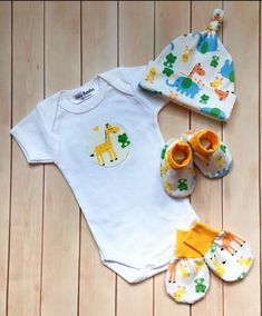 baby shower gift baby gift reindeer baby knotted hat Christmas baby organic baby clothes Newborn gift set scratch mitts