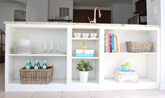 "<a href=""http://www.11magnolialane.com/2015/06/14/homeright-bookcase-challenge-billy-bookshelf-to-kitchen-bookshelves-hack/"" target=""_blank"">Billy bookcase to kitchen bookshelves </a>"
