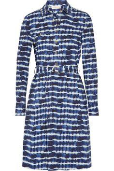 1644866959 Tory Burch - Derrick tie-dyed stretch-cotton poplin shirt dress