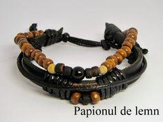 Handmade Bracelet Charm 1 :: Papionul de lemn
