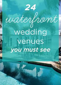 You've got to see these gorgeous waterfront #wedding venues!