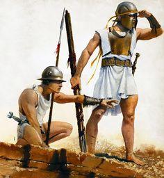 """""""Ferentarii del V secolo a.C., corpo di legionari giovani e di basso censo, e quindi armati alla leggera"""", José Daniel Cabrera Peña"""