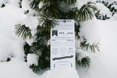 Snowy Outdoor Mountains Wedding Stationery Invitations  http://brantsmithphotography.com/