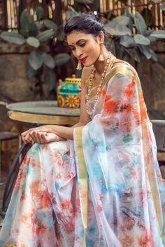 Every Thing You Want To Know About Shibori Sarees Cotton Sarees Handloom, Shibori Sarees, Silk Sarees, Half Saree Designs, Silk Saree Blouse Designs, Organza Saree, Chiffon Saree, Elegant Saree, Elegant Dresses