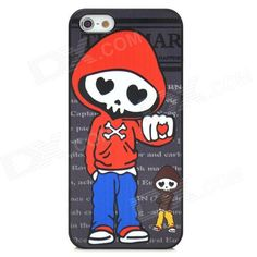 Brand: N/A; Quantity: 1 Piece; Color: Black + red; Material: PC material; Type: Back Cases; Compatible Models: Iphone 5; Other Features: Skull man pattern makes your cell phone cool and unique; Protects the device from dust shock and scratches; Packing List: 1 x Back case; http://j.mp/1lkq0Eg