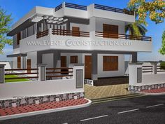 Home Decor: House Front Boundary Wall Collection And Incredible New Design In Kerala Ideas Window Port With Walls New Boundary Wall Design In Kerala House Front Wall Design, Gate Wall Design, Door Design, House Design, Home Inside Design, House Outside Design, Compound Wall Design, Luxury Modern Homes, House Construction Plan