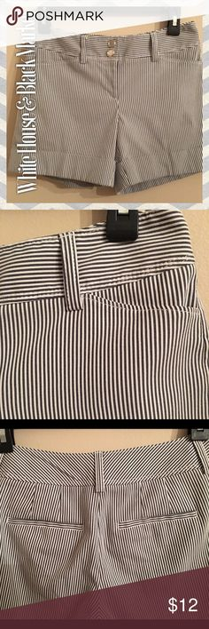 White House & Black Market Shorts White House & Black Market Striped Shorts. Black & White striped. Great condition. White House Black Market Shorts