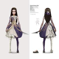 Here is all the concept art for Alice's new dresses aside from her original blue and the inferno which is on a earlier post . Lewis Carroll, Alice Liddell, Dark Alice In Wonderland, Adventures In Wonderland, Chibi, Alice Cosplay, Fandom Games, Shadow Of The Colossus, Alice Madness Returns