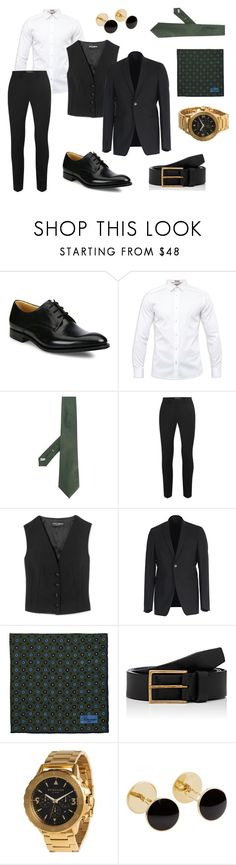 """The Gentleman's Code"" by xeniap94 ❤ liked on Polyvore featuring Church's, Ted Baker, Canali, Topman, Dolce&Gabbana, Rick Owens, Petronius, Felisi, Quiksilver and Tom Ford"