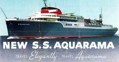 The Great Lakes vehicle ferry Aquarama, which was converted from a WW2 C4 cargo ship.