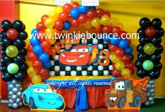 disney cars birthday party balloon decoration