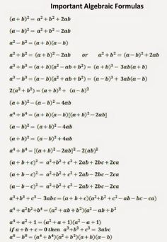 Maths Algebra Formulas, Math Vocabulary, Algebra 2, All Physics Formulas, Algebra Worksheets, Math Equations, Math Formula Chart, Maths Formula Book, Les Mathes