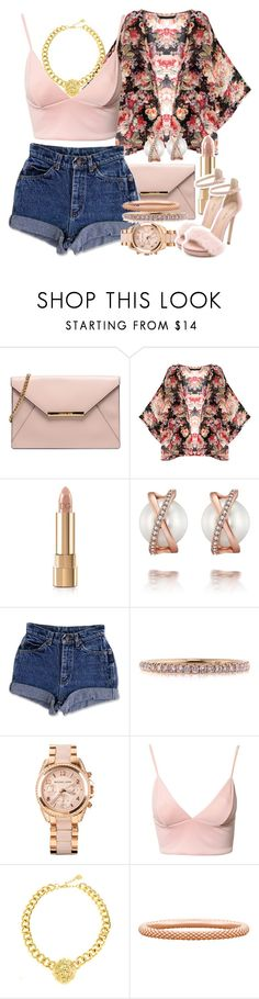 """""""Untitled #1405"""" by lulu-foreva ❤ liked on Polyvore featuring Dolce&Gabbana, Mark Broumand, Michael Kors, Dark Pink, Pieces and Monique Lhuillier"""