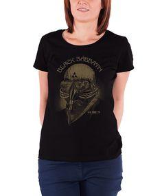 Black Sabbath T Shirt Classic Wavy Vintage Band Logo Officiel Homme