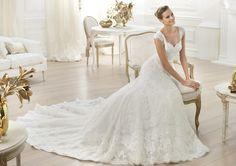 Pronovias presents the Lencie wedding dress. Costura 2014. | Pronovias