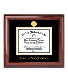 Love this LSU Tigers Gold Seal Mahogany Diploma Frame by University Frames on #zulily! #zulilyfinds