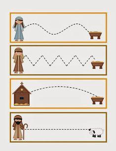 trace the lines! Preschool Christmas Activities, Preschool Education, Preschool Themes, Preschool Printables, Preschool Lessons, Preschool Learning, Toddler Preschool, Preschool Activities, Christmas Worksheets