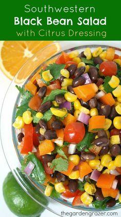 Southwestern black bean salad with a fresh citrus dressing.