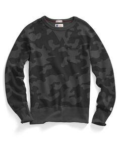 Pocket Sweatshirt in Black Camo