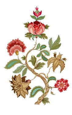 Wall Painting Decor, Madhubani Painting, Kalamkari Painting, Crewel Embroidery, Vintage Embroidery, Botanical Prints, Botanical Flowers, Floral Prints, Print Patterns