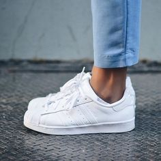 Tendance Basket 2017 Sneakers femme Adidas Superstar white whiteaddicted