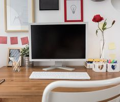 How to Remodel for the Perfect Home Office. Home Office Style Ideas. 38960217 Stylish Home Office. 5 Home Office Decorating Ideas Office Organization At Work, Organization Hacks, Organizing Tips, Organising, Cubicle Organization, Feng Shui Dicas, Family Command Center, Command Centers, Hide Wires