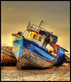 Libya - The End of the Old Boat by Bashar Shglila on Flickr