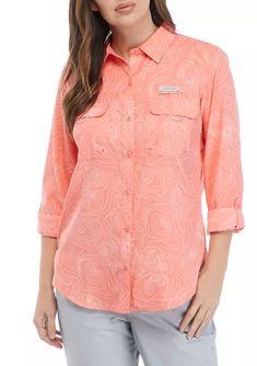 Ocean & Coast® Long Sleeve Printed Fishing Shirt | belk Fishing Shirts, Fun Prints, Pocket Detail, Outdoor Fun, Convertible, Coast, Ocean, Shirt Dress, Hiking Outfits