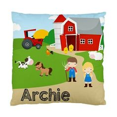 Farmhouse Cushion. Farmhouse Pillow. Farm Room by ZaraStationery