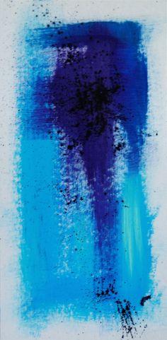 acrylic on cardboard - #acrylic #painting #splash #brush #dry