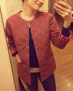 #quiltedjacket #sashiko #makedoandmend #reuse #sewing #handmade #handsewing…
