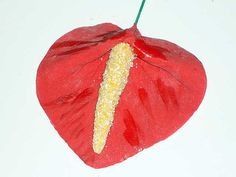 Gumpaste Anthurium Tropical Flower by GumpasteGarden on Etsy, $12.00