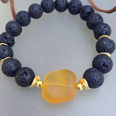 Lava Rock Bracelet stack/Black Lava Bead Bracelets/Bracelet