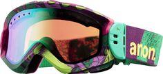 Anon Majestic Printed Snowboard Goggles Koa/Green Mirror Lens