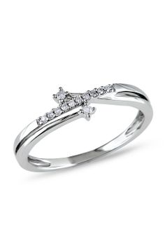 0.06 ct Diamond Fashion Ring in 10k White Gold