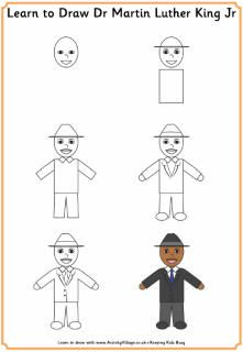 Learn to draw MLK