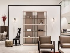 Design ideas for your Living Room and Lounge Landscape - Bookcases Chinese Furniture, Cabinet Furniture, Sofa Furniture, Luxury Furniture, Furniture Design, Luxury Homes Interior, Interior Architecture, Interior Design, Holly Hunt