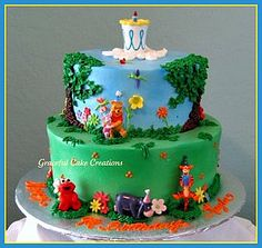 Winnie the Pooh Birthday Cake by Graceful Cake Creations, via Flickr