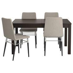 BJURSTA/PREBEN Bord och 4 stolar - IKEA