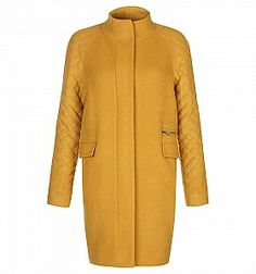 Hobbs Penny quilted coat, Mustard £149 was £224 Buy at Home of Fashion. #coat #wintercoat #sale #fashion