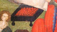 H. 1400, Nacimiento de San Juan, , Hermanos Serra o maestro de Cinctorres, Museo Nacional de Arte de Cataluña, Barcelona (detalle) (Imagen obtenida de Andrea Carloni)