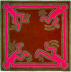 #KeithHaring Untitled No. 5, 1988 Acrylic on Canvas 60 x 60 inches 152 x 152 cm