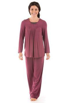 Womens Pajama Sets Eco Clothing Romantic Anniversary Gift for Wife Girlfriend Comfy Sleepwear - 0090-GT-S TexereSilk,http://www.amazon.com/dp/B007PSEB6O/ref=cm_sw_r_pi_dp_bfp8qb0AQ9P31G6H