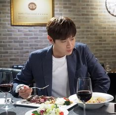 Hyun Woo, Beautiful Smile, Red Wine, Alcoholic Drinks, Liquor Drinks, Alcoholic Beverages, Liquor