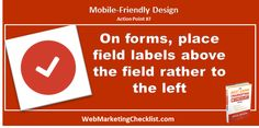 For #mobile users, forms are easier to use when the labels are above the fields rather than to the left. #BestDamnBook