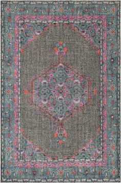 Surya Zahra ZHA-4006 Charcoal Hand Knotted Area Rug – Incredible Rugs and Decor